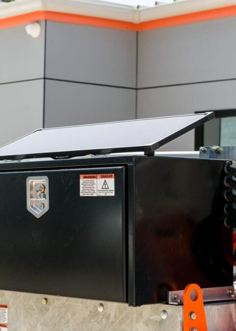 Charging via Solar-Panel